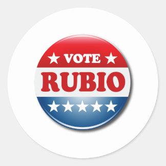 VOTE RUBIO CLASSIC ROUND STICKER