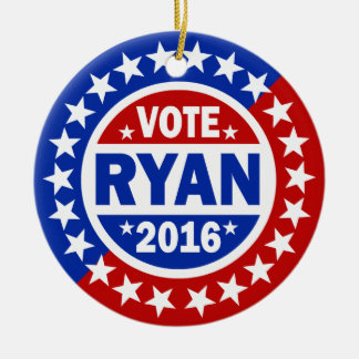 Vote Ryan 2016 Ceramic Ornament