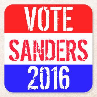 Vote Sanders 2016 Square Paper Coaster