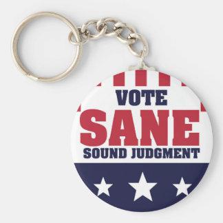 Vote Sane Sound Judgment Keychain