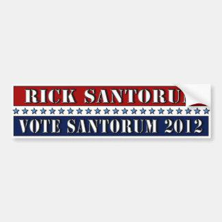 Vote Santorum 2012 - bumper sticker Car Bumper Sticker