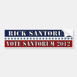 Vote Santorum 2012 - bumper sticker