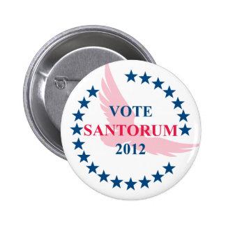 Vote Santorum 2012 Button