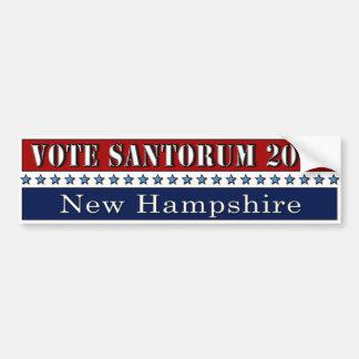 Vote Santorum 2012 New Hampshire - bumper sticker Car Bumper Sticker