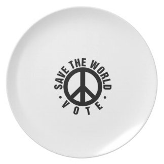 VOTE! Save the World Dinner Plate