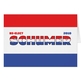 Vote Schumer 2010 Elections Red White and Blue Greeting Card