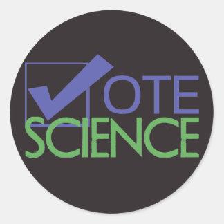 Vote Science Classic Round Sticker
