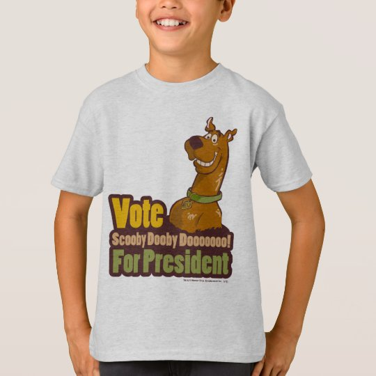 Vote Scooby Dooby Doo for President T-Shirt