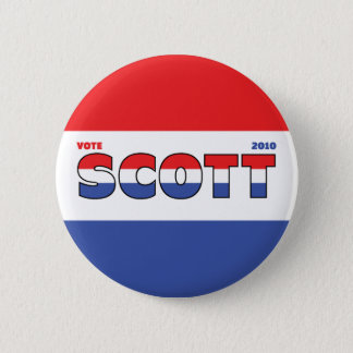 Vote Scott 2010 Elections Red White and Blue Button