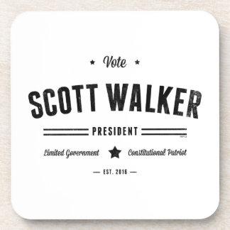 Vote Scott Walker Beverage Coaster