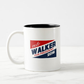 Vote Scott Walker for President 2016 Campaign Sign Two-Tone Coffee Mug