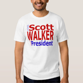 Vote Scott Walker For President Tee Shirt
