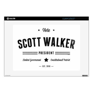Vote Scott Walker Laptop Skins