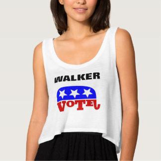 Vote Scott Walker Republican Elephant Flowy Crop Tank Top