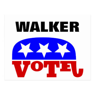Vote Scott Walker Republican Elephant Postcard