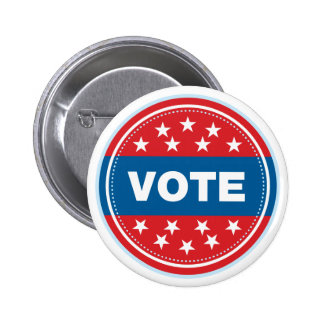 Vote Seal - Blue Pinback Button