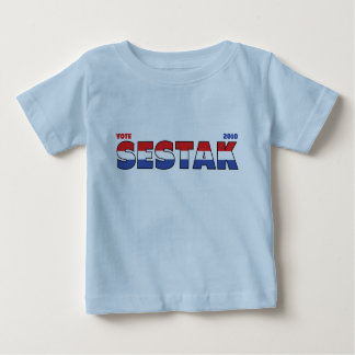Vote Sestak 2010 Elections Red White and Blue Infant T-shirt
