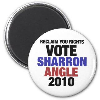 Vote Sharon Angle for US Senate 2010 2 Inch Round Magnet