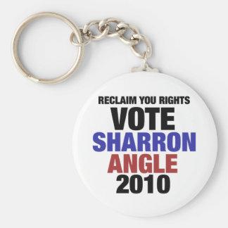 Vote Sharon Angle for US Senate 2010 Keychain