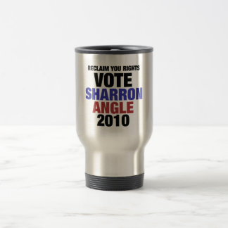 Vote Sharon Angle for US Senate 2010 Travel Mug