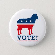 Vote! Sheep Party Logo Button