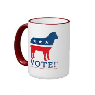 Vote Sheep Party Logo Mug