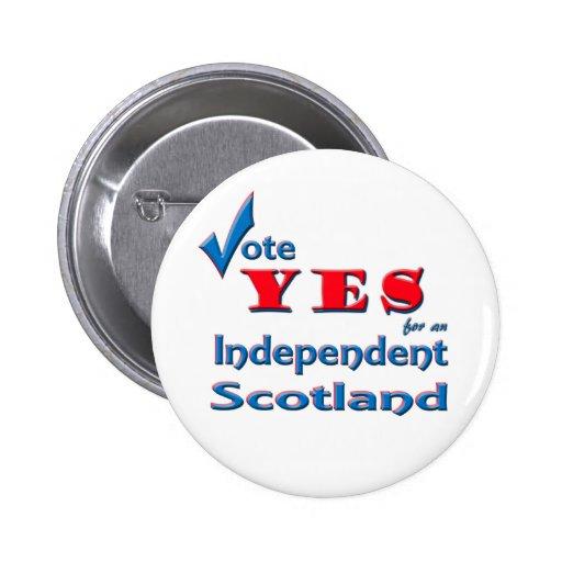 Vote SÍ por una insignia independiente del perno d Pin Redondo 5 Cm
