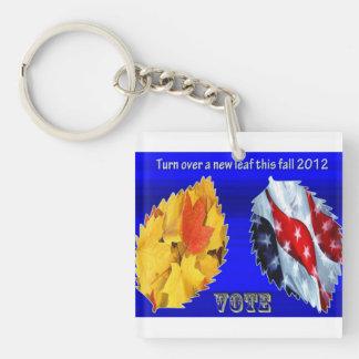Vote Single-Sided Square Acrylic Keychain