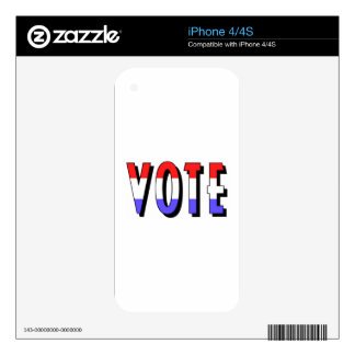Vote Decals For iPhone 4S