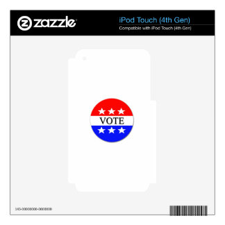Vote Decals For iPod Touch 4G