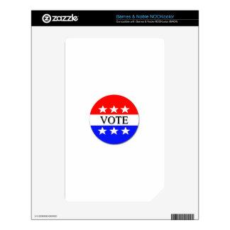 Vote NOOK Color Decals