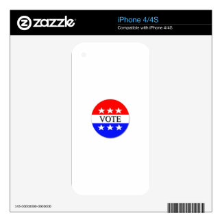 Vote iPhone 4 Decals