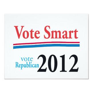 vote smart 4.25x5.5 paper invitation card