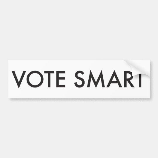 VOTE SMART BUMPER STICKER