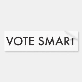 VOTE SMART CAR BUMPER STICKER