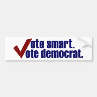 Vote Smart Vote Democrat Bumper Sticker
