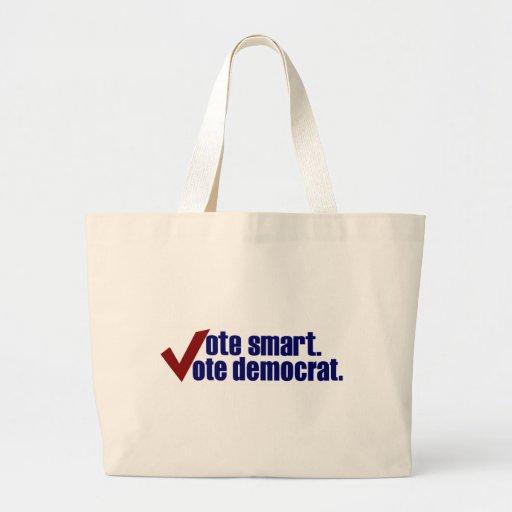 Vote Smart Vote Democrat Canvas Bags