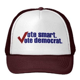 Vote Smart Vote Democrat Trucker Hat
