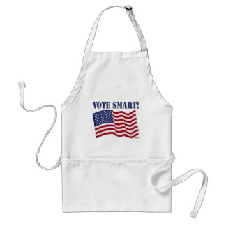 VOTE SMART! with US Flag Adult Apron