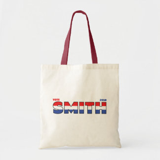 Vote Smith 2010 Elections Red White and Blue Tote Bag