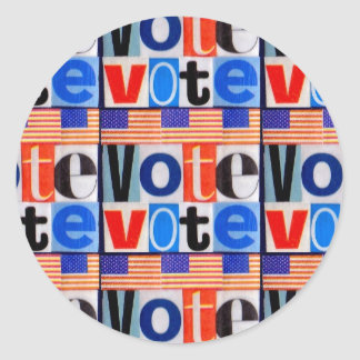 Vote Sticker Round Matte