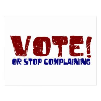 Vote Stop Complaining Postcard