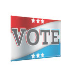 vote stretched canvas prints