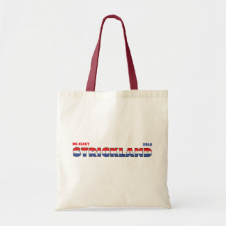 Vote Strickland 2010 Elections Red White and Blue Budget Tote Bag
