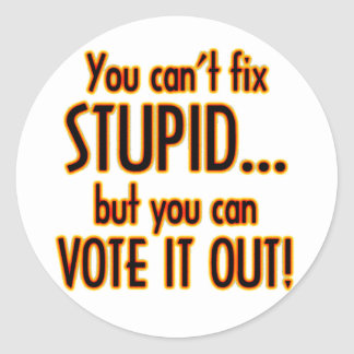 Vote Stupid Out - Fire Classic Round Sticker