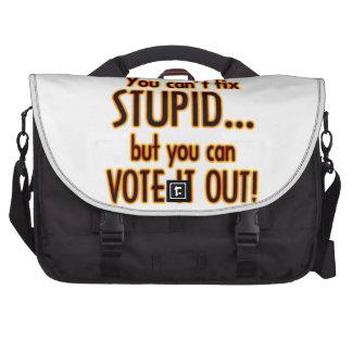 Vote Stupid Out - Fire Laptop Messenger Bag