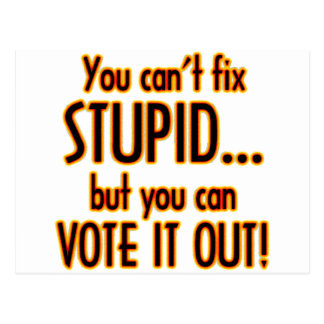 Vote Stupid Out - Fire Postcard