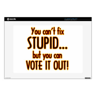 "Vote Stupid Out - Fire 15"" Laptop Decals"