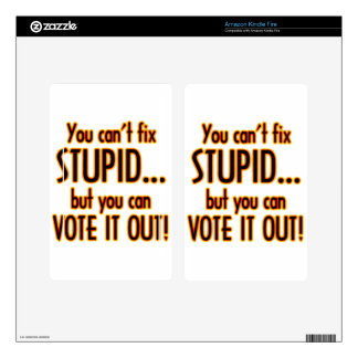 Vote Stupid Out - Fire Skin For Kindle Fire