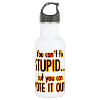 Vote Stupid Out - Fire Water Bottle